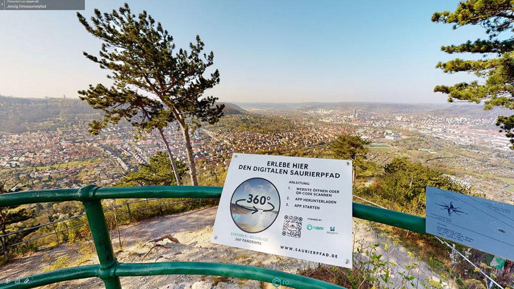 Saurierpfad Jena - Ausblick vom Jenzig